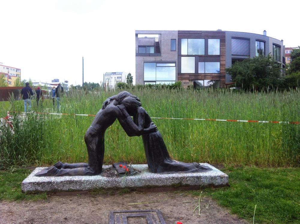 The reconciliation sculpture.