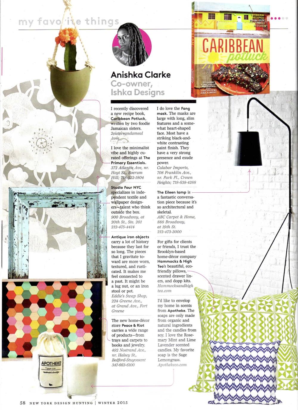 New York Magazine 2014 Ishka Designs Feature