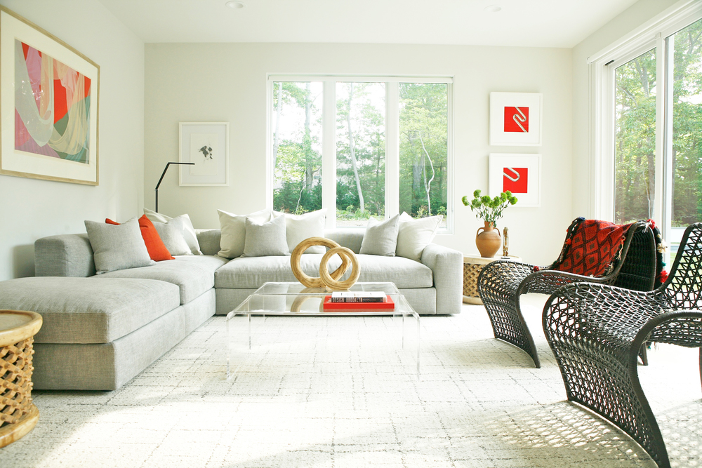 Interior design solution for a 5-bedroom East Hampton second home. Modern, minimalist interiors.  Photo credit: Niya Bascom Photography.  Please do not use images without express written permission from Ishka Designs or Niya Bascom