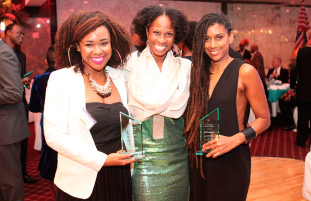 Anishka (co-owner of Ishka Designs) featured with fellow awardees: Karisma Jay and Kwayera Archer-Cunningham. Source: Caribbean Life
