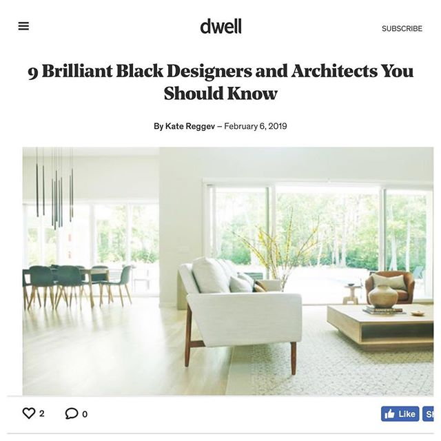 Thanks for including us @dwellmagazine 🖤 . . . Dwell magazine shines a spotlight on 9 black designers and architects in a nod to Black History Month. Thanks for including Ishka Designs among a few of our friends (tagged above). Link in bio. . . . . #efficientlybeautiful  #simplicity #longevity #mindful #interiordesign #interiorinspiration  #interiors  #design  #interiorstyle  #interiorlovers  #style  #minimal  #ishkadesignsinteriors  #brooklyndesigners  #interiordesigners