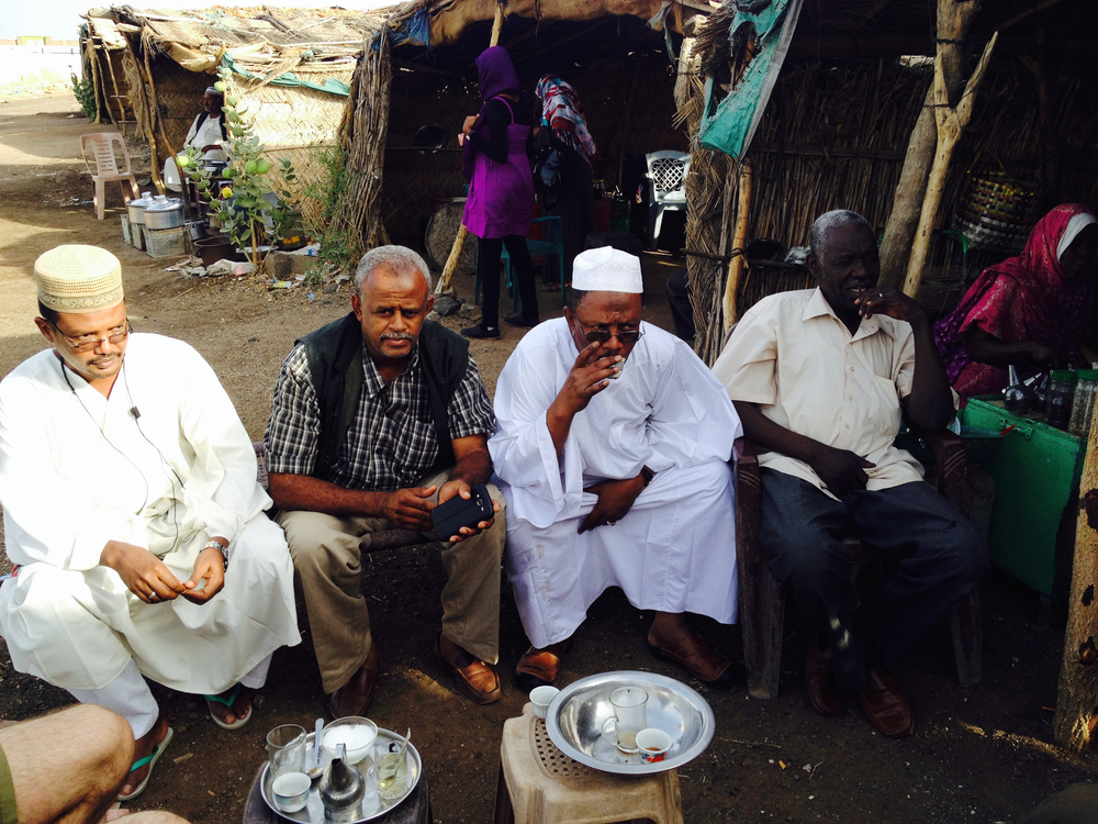 Tea break on the road with our team from the local Muslim Aid office