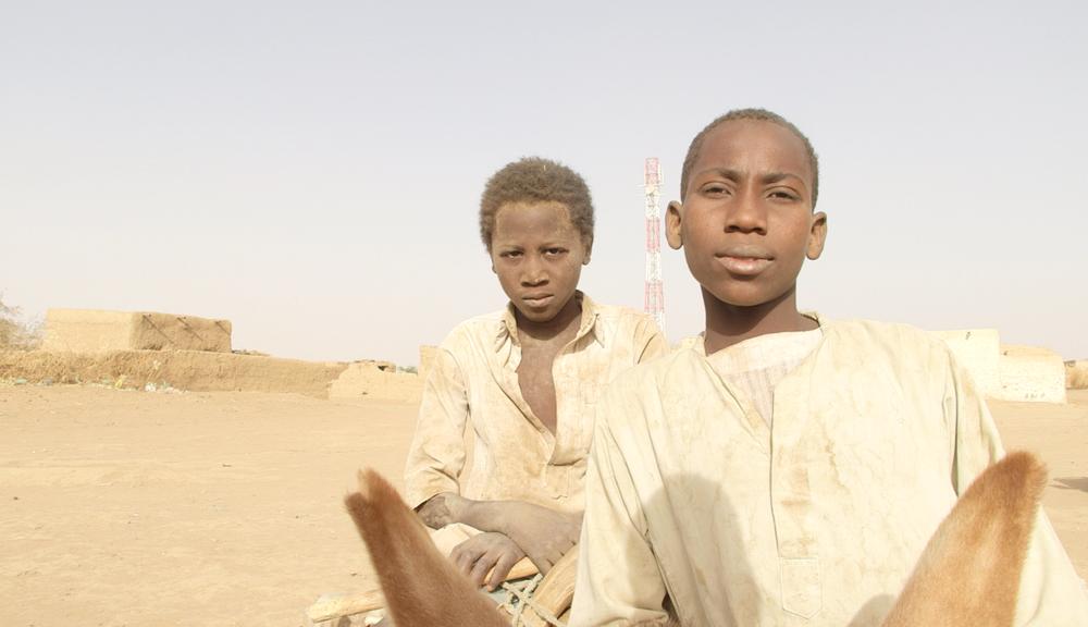 Children in the desert near Kassala, North Sudan