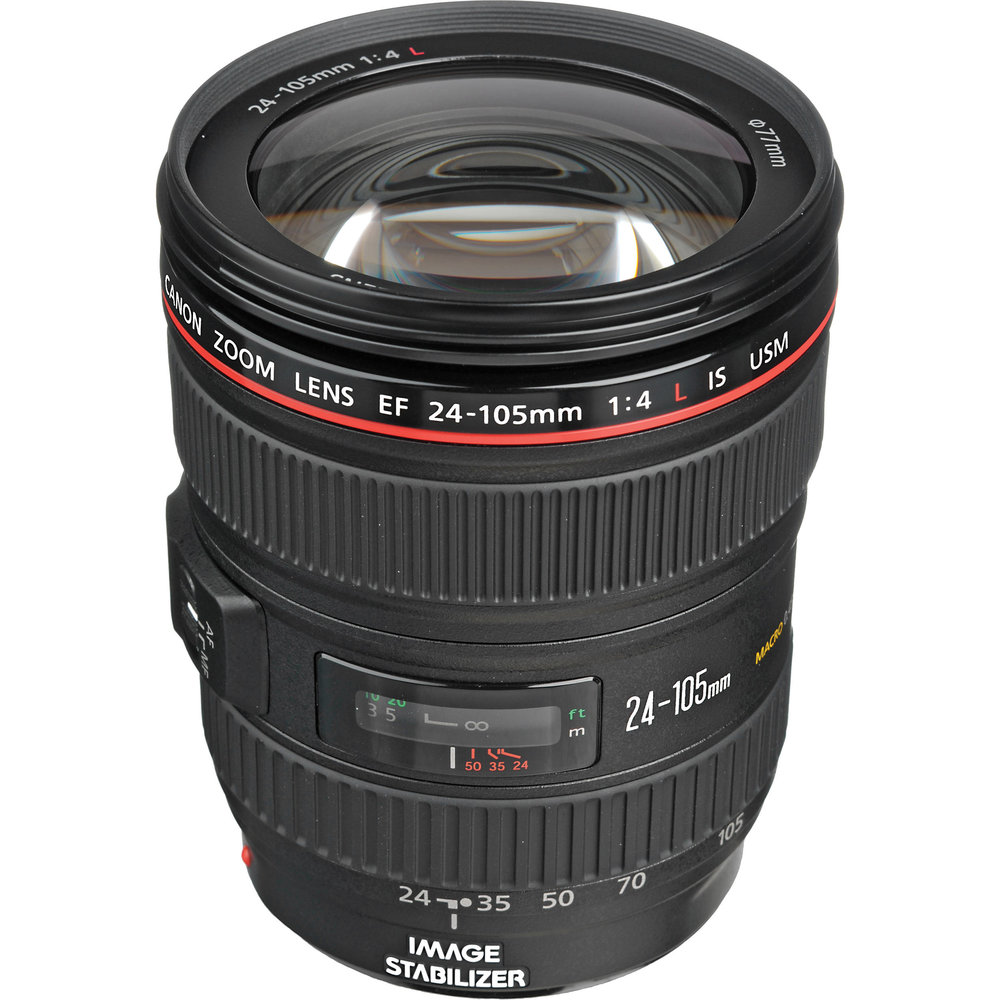 Canon EF 24-105mm f/4L IS USM Lens  | £15 per day