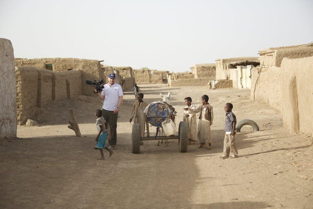 Filming near Kassala, Sudan