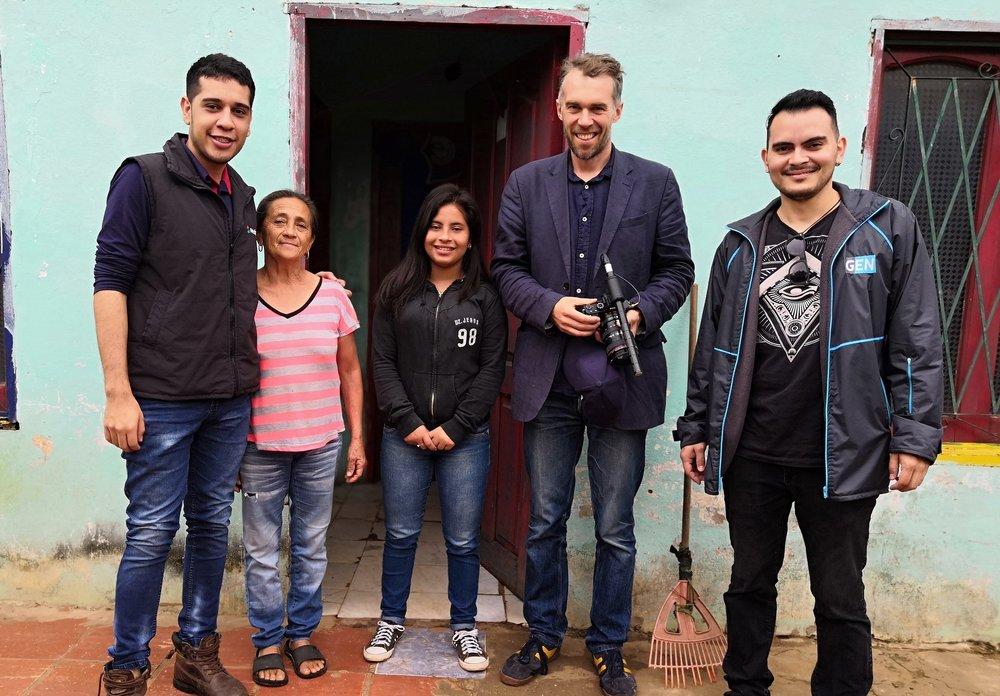 Filming in San Lorenzo, Asuncion, Paraguay