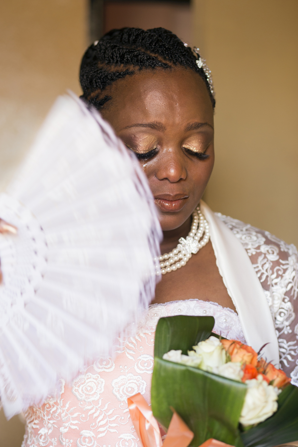 Ayanda Moremi on her wedding day. Kwanele South, Katlehong, 9 November 2013.JPG