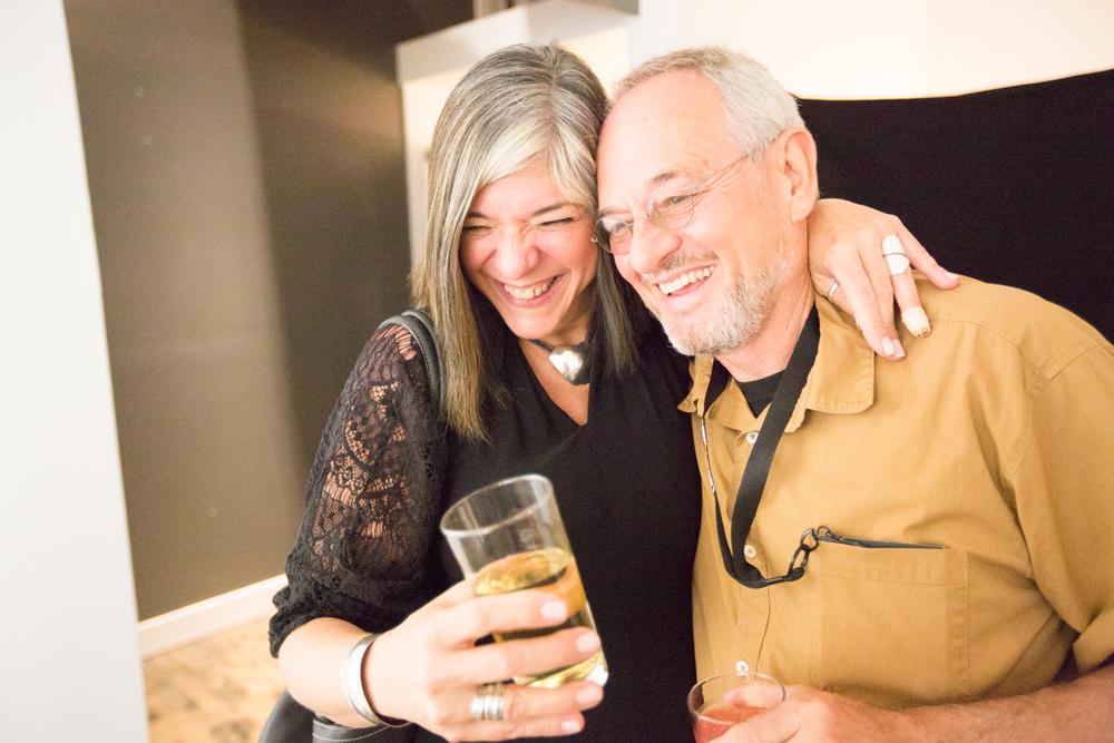 "MaryAnne Golon with festival founder Michael ""Nick"" Nichols. Photo © Jon Golden"