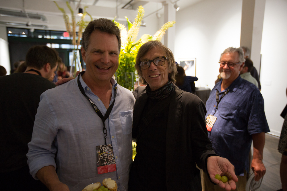 Festival Board President, Will May, with legacy artist Christopher Morris. Photo © Jon Golden