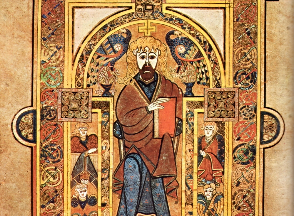 Christ Enthroned; Book of Kells.  Christ is present and embodied in the  Jurisdictions  of the Church, which are the members of His Body.