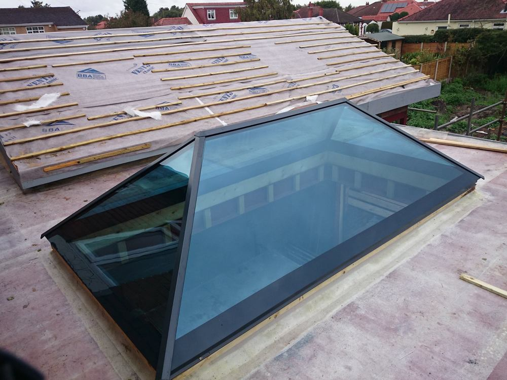 Slimline Roof lantern to Orangery Roof