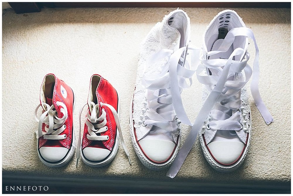 Bride and babygirl shoes