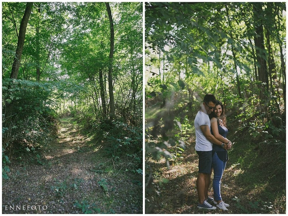 Vale e Massi Fidanzamento nel bosco
