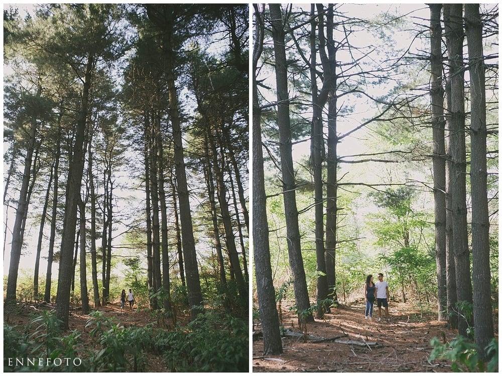 Vale e Massi fidanzamento fra gli alberi