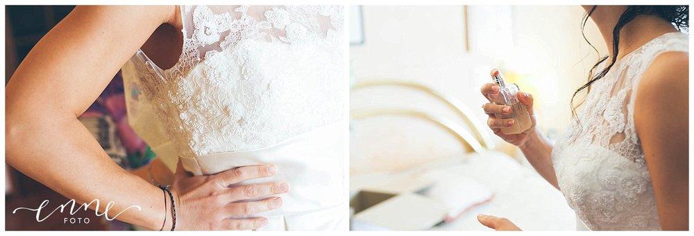 Dettagli preparazione sposa