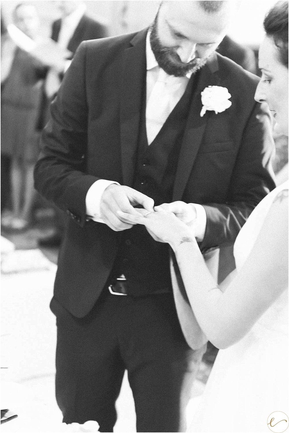Groom and ring