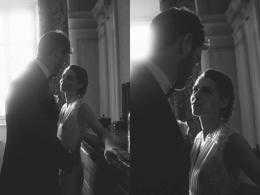 Ritratto sposi bianco e nero