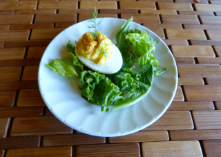 Deviled Egg with Dill Sprig.  Photo by Sue Van Slooten