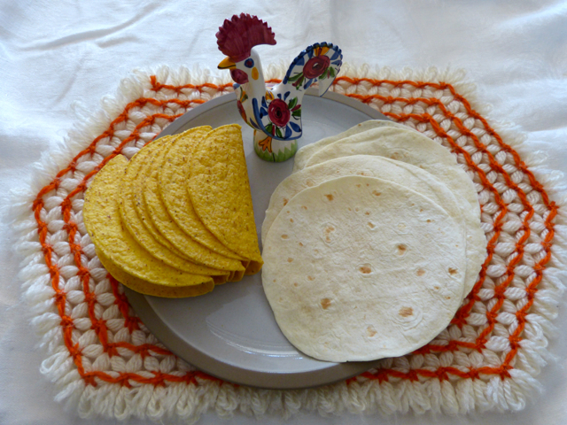 Popular commercial tortillas.  Photo by Sue Van Slooten