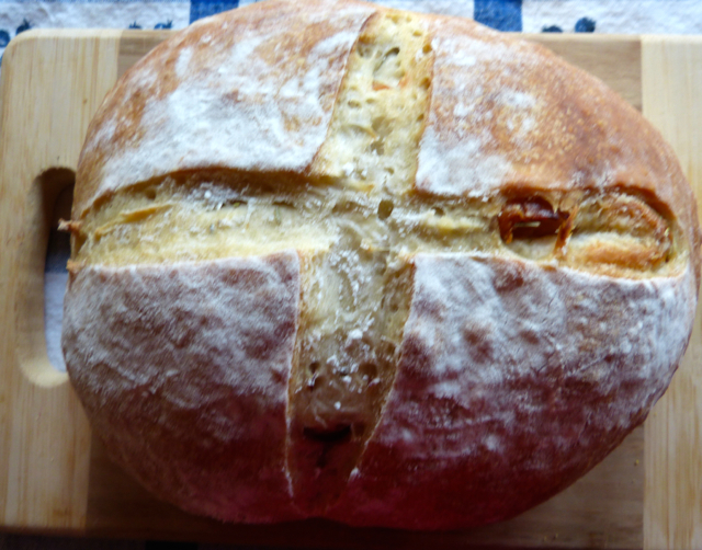 Artisan Bread with Pancetta and Rosemary.  Photo by S. Van Slooten