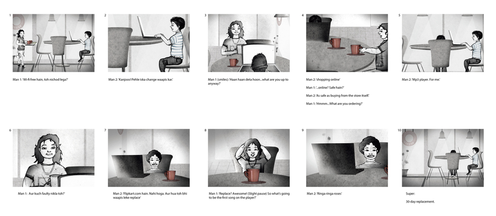Story Board for Ad 1
