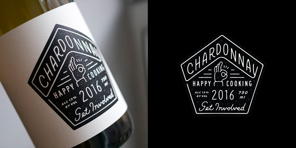 WINE LABEL FOR HAPPY COOKING RESTAURANT GROUP, NY NY