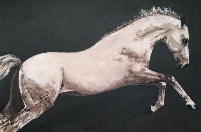 "acylic on canvas, 72"" x 48""  sold"