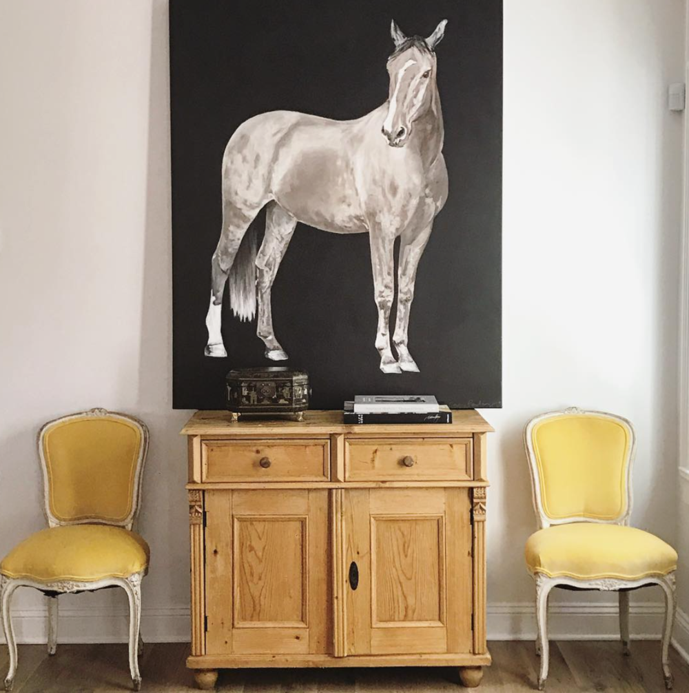 horse, on canvas, 48 x 60