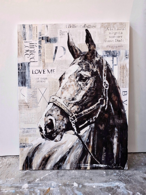 mixed media on canvas, 36 x 48