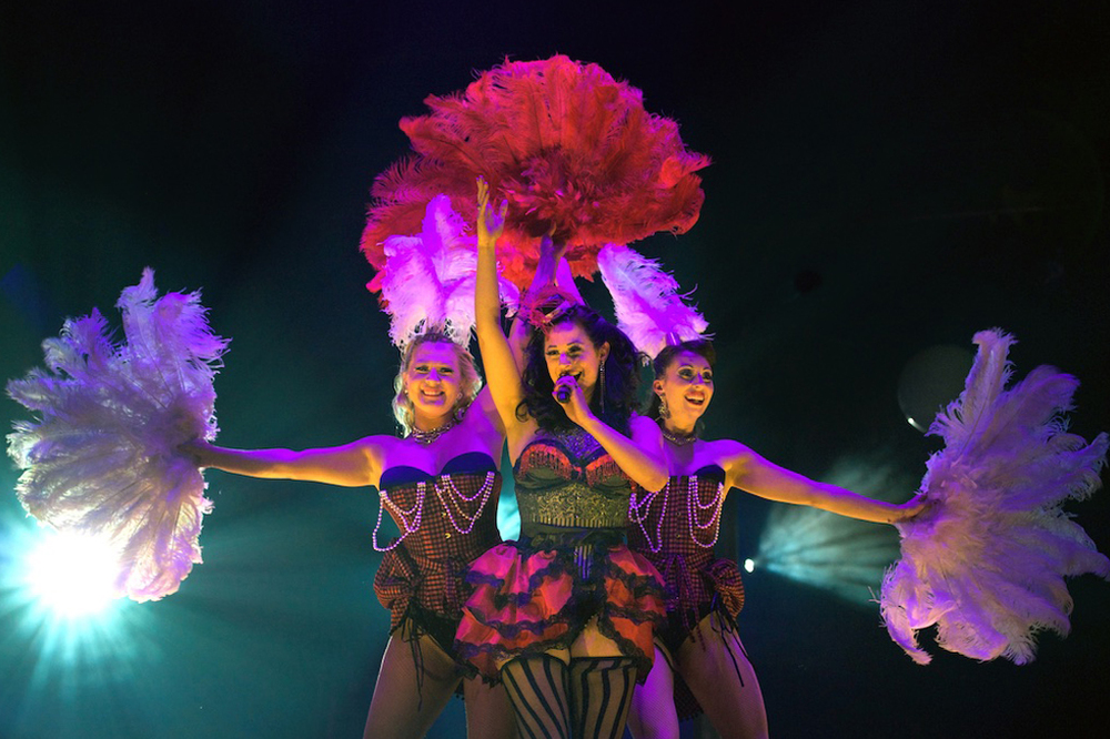 Showgirl fan dance and vocal revue, London Wonderground
