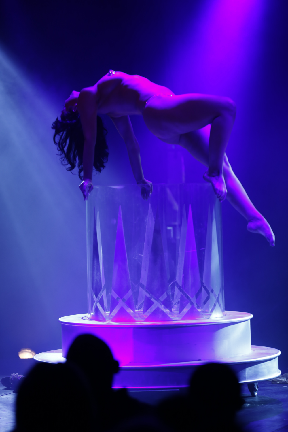 "House of Burlesque ""The Vodka Queen"" Classic striptease with giant rocks glass"