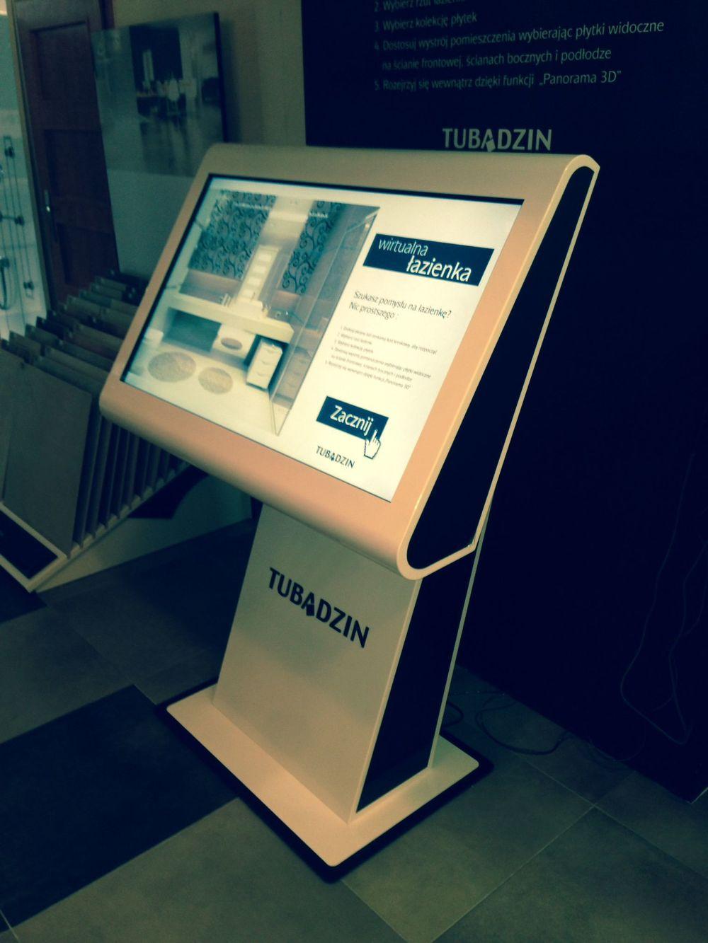 Kiosk multimedialny firmy Tubądzin