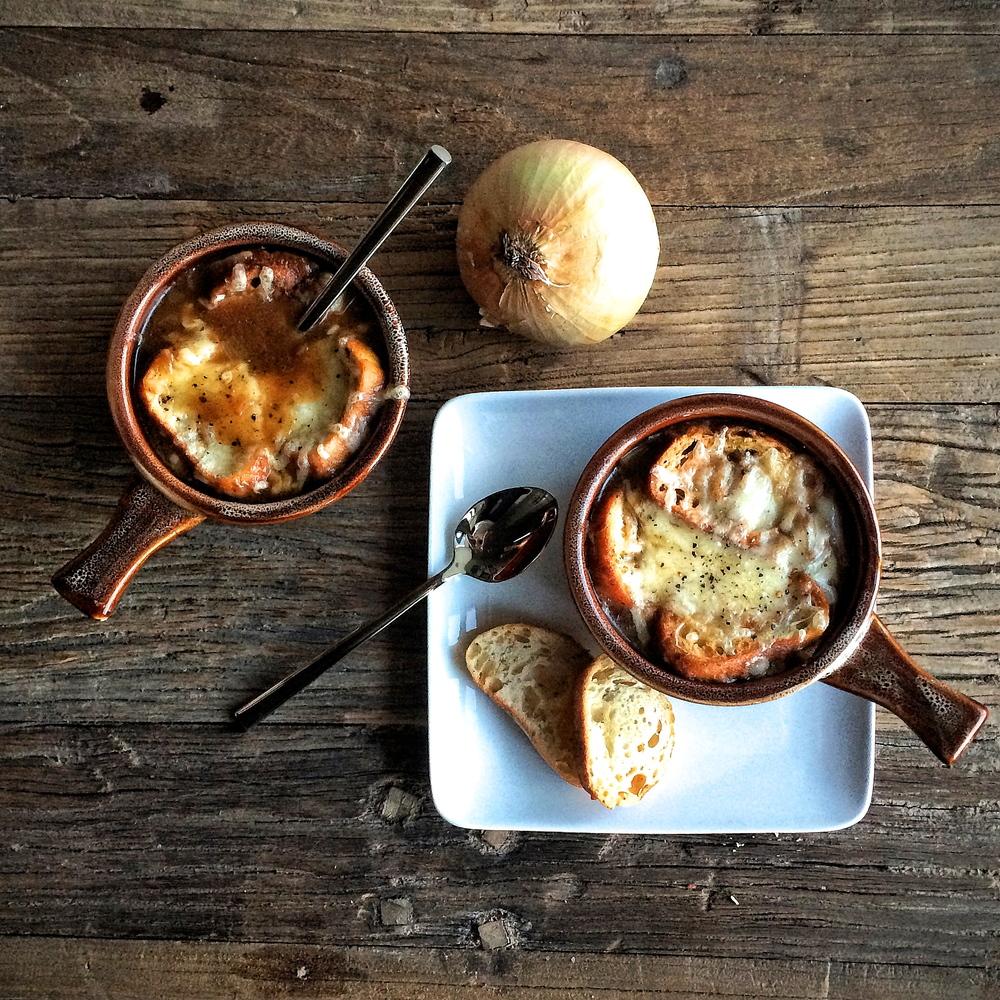 ho-made classic french onion soup | slothful slattern