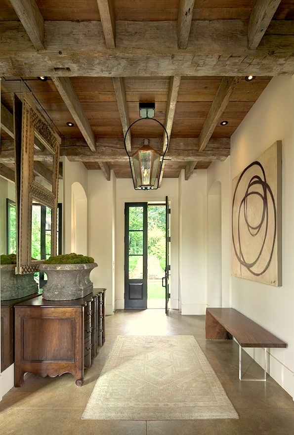 Rustic Entry Foyer Lighting : Lodge luxe where rustic meets modern tiffany farha design