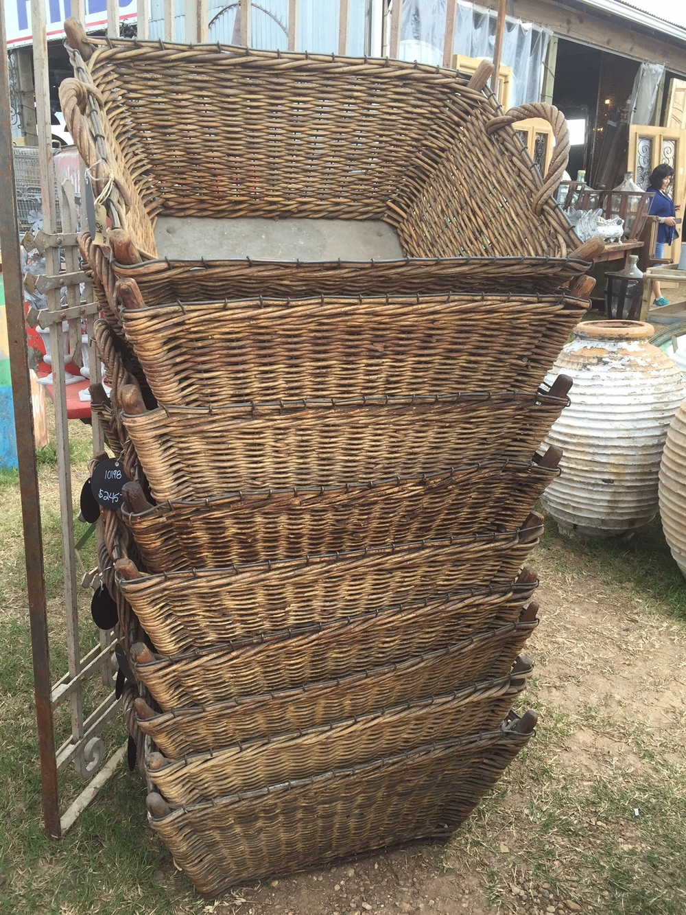 Never a shortage of baskets at this fair!