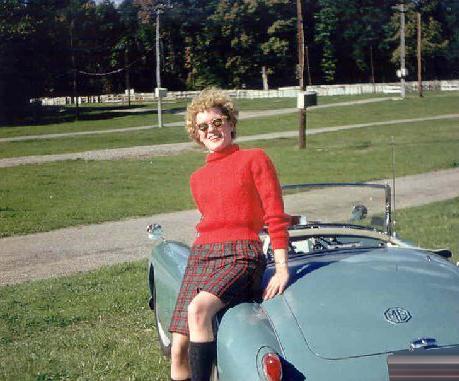 Barbara Anne & her 1958 MGA