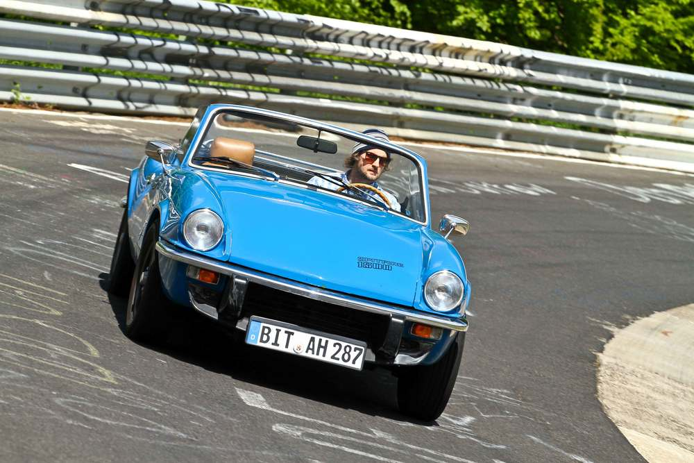 1977 Triumph Spitfire on the Nurburgring