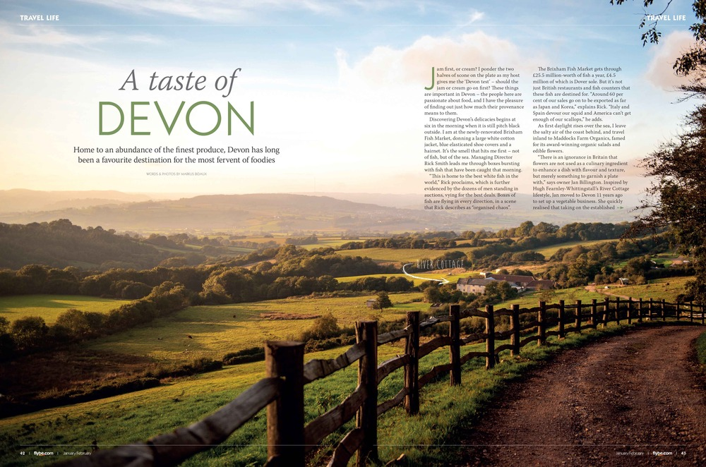 A Taste of Devon article pages 1-2