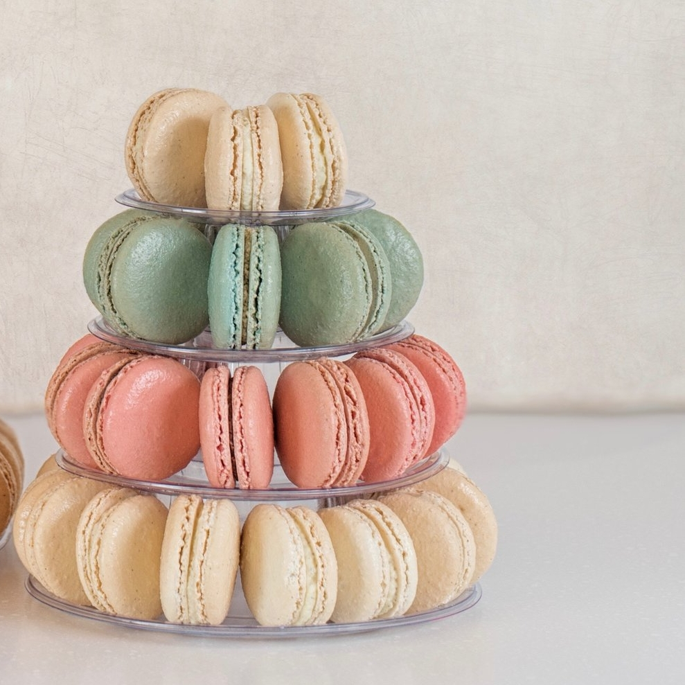 Macaron Tower - Perfect for a party, wedding or graduation. Your friends will thank you.