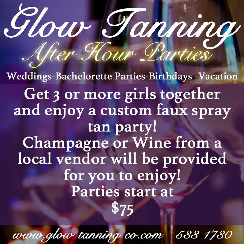 After hour spray tan parties!