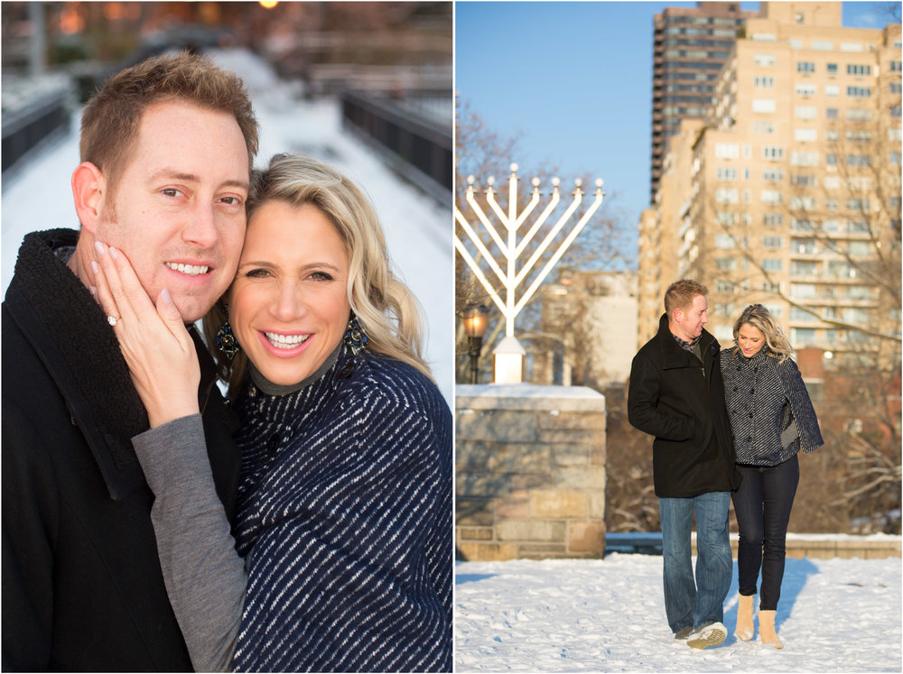 NYC Engagement Photo Session Photos Carl Schurz Park Sunrise