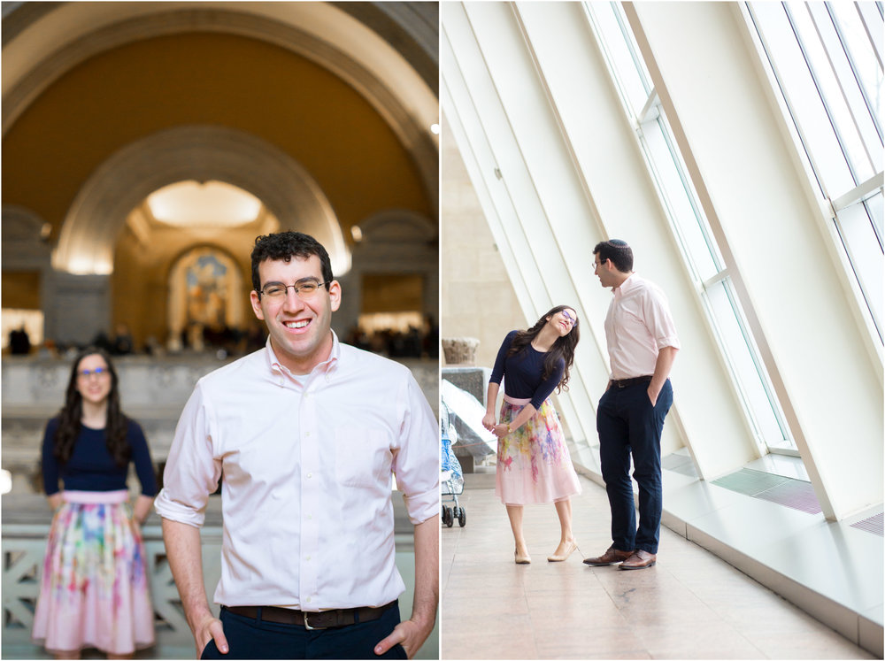 Metropolitan Museum of Art Engagement Photography Session NYC