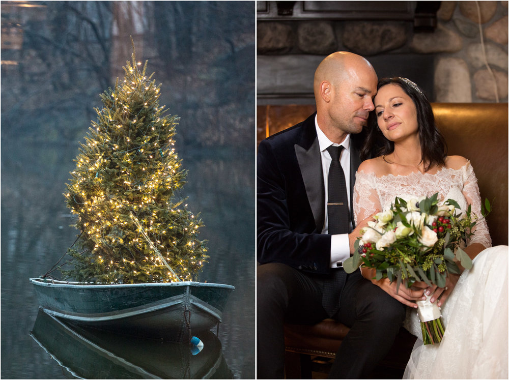 Loeb Boathouse Wedding Central Park Rain Park Lane Hotel Winter