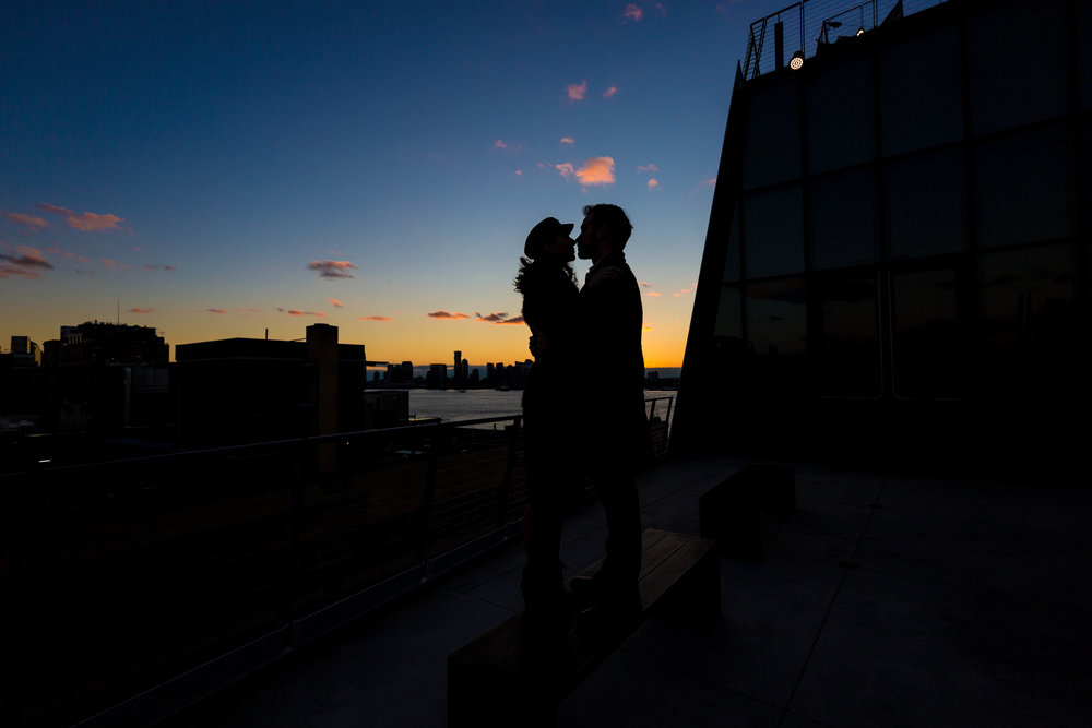 NYC Engagement Photo Shoot Session Whitney Museum Highline