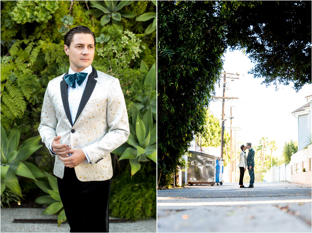 SmogShoppe Wedding LA Augustus Prew Jeffery Self Gay Same Sex Wedding
