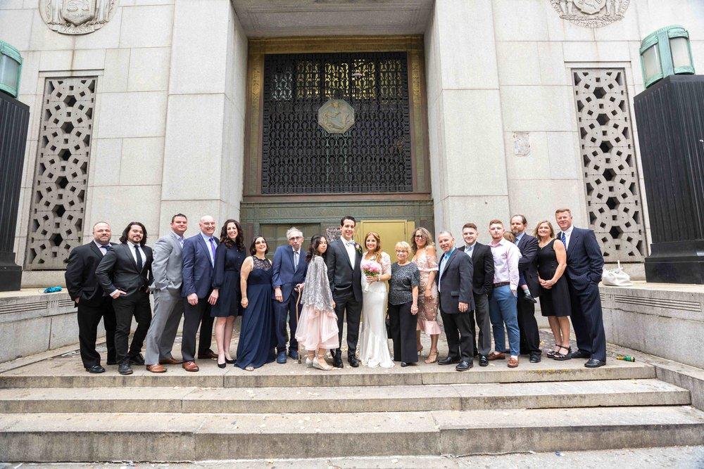 City Hall Upper Story Wedding NYC Photographer
