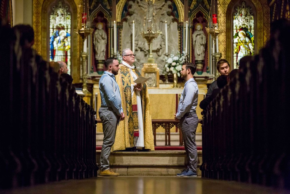 NYC Wedding Photographer Standard Highline Church of the Transfiguration Waverly Inn Same Sex