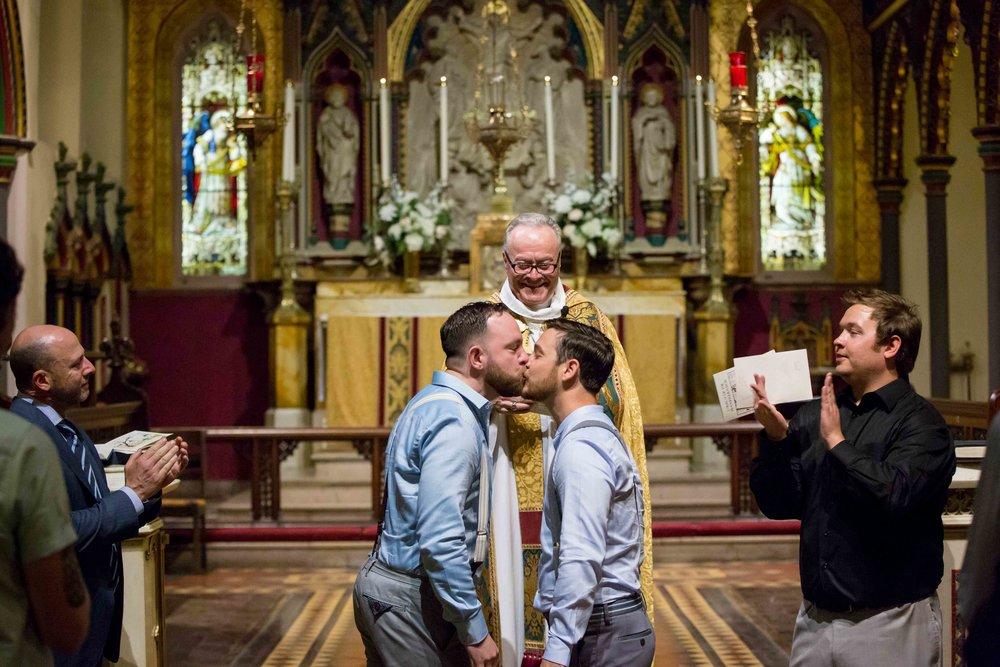 NYC Wedding Photographer Standard Highline Church of the Transfiguration Waverly Inn Same Sex