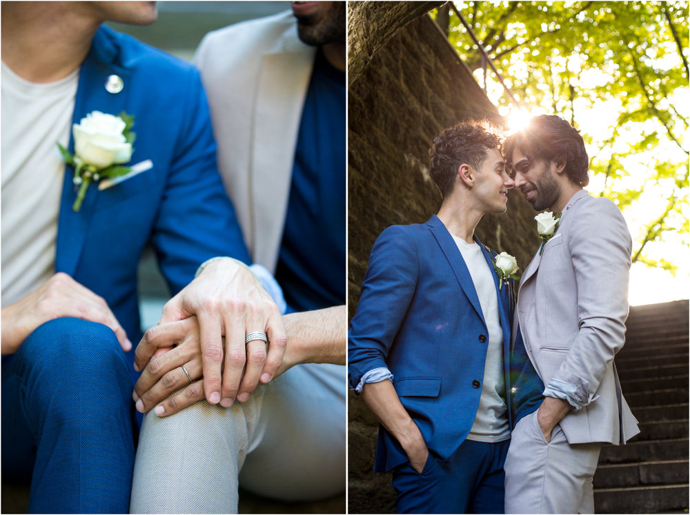 NYC Wedding Photographer City Hall Same Sex Fort Tryon Park