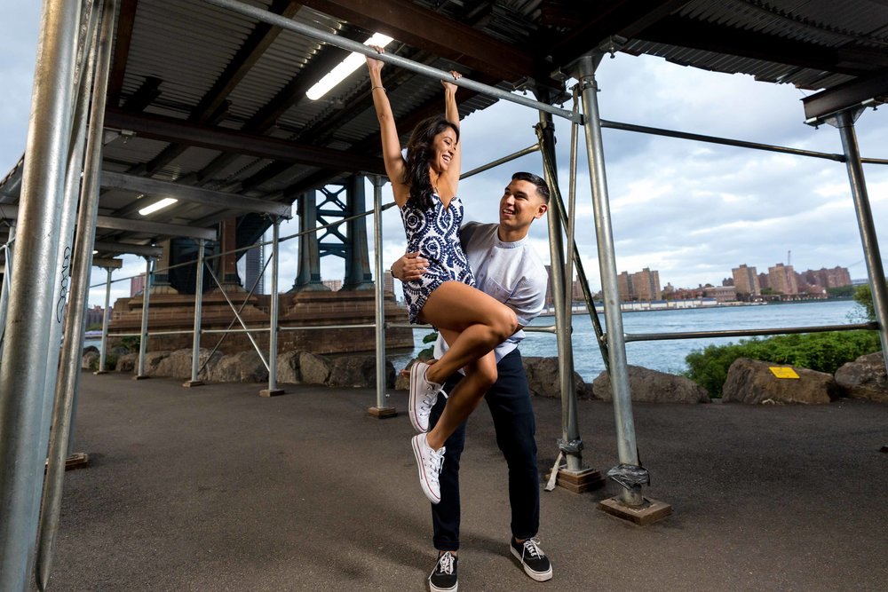 DUMBO Engagement Session NYC Wedding Photographer Brooklyn Phooto Shoot